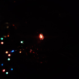 freetoedit christmastree newyear garland lights pclightinthedark