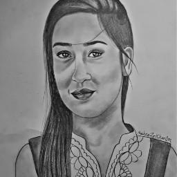 india indiangirl girl draw art freetoedit