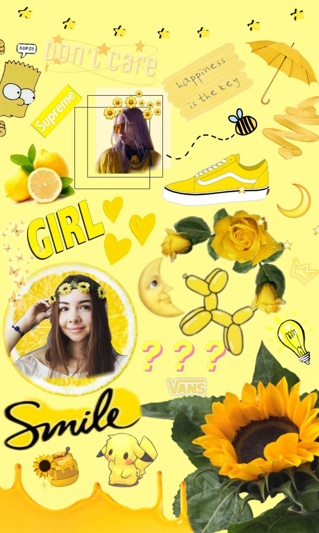 Freetoedit Background Wallpaper Girly Yellow Tum