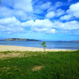 home beach clouds peaceful sky
