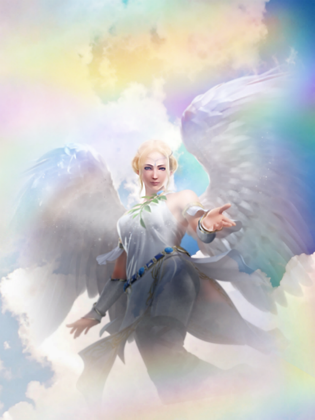 #freetoedit #fantasyart #fantasybackground  #angel #rainbowsky #dreamyclouds #picsartbackground  #colorful #stickers #layering #blending #picsarteffects #editstepbystep #myedit #madewithpicsart