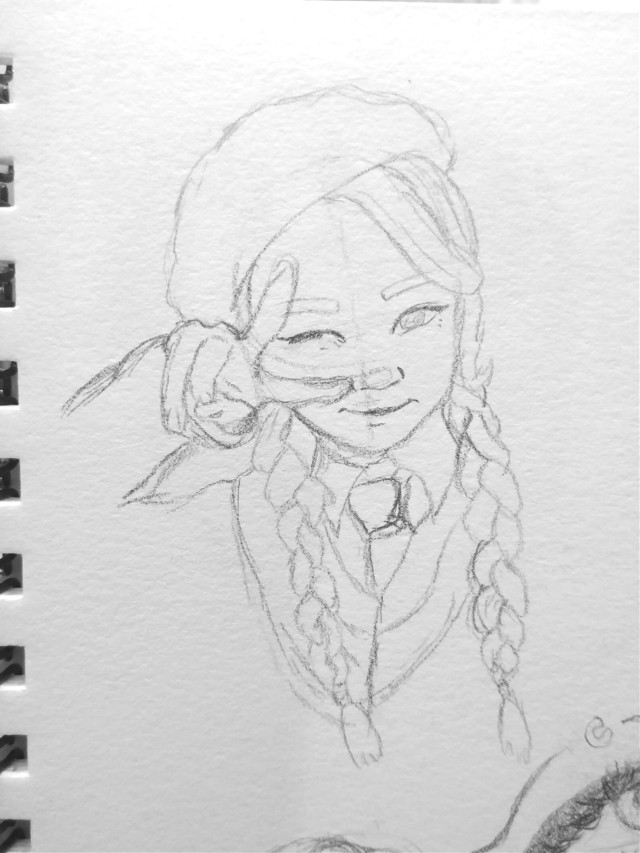 Yeoreum is such a cutie💗💗  Trying to dtaw new people and braids so I'm pushing myself  My boy gets back tomorrow and I'm so excited!!!!!    #freetoedit #kpopfanart #kpop #art #drawing #myart #mydrawing #fanart #wjsn #cosmicgirls #yeoreum