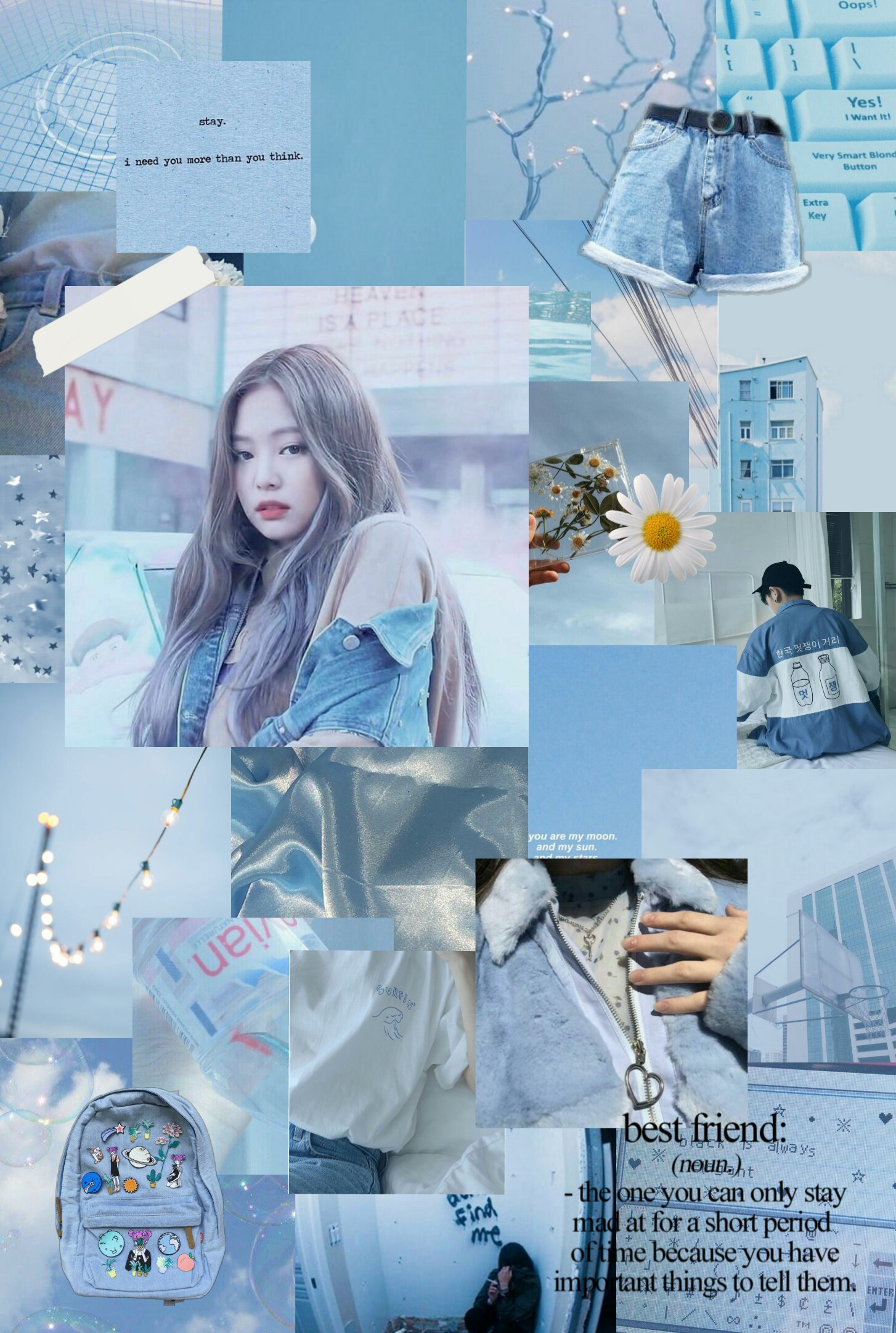 blackpink jennie beautiful aesthetic collage w