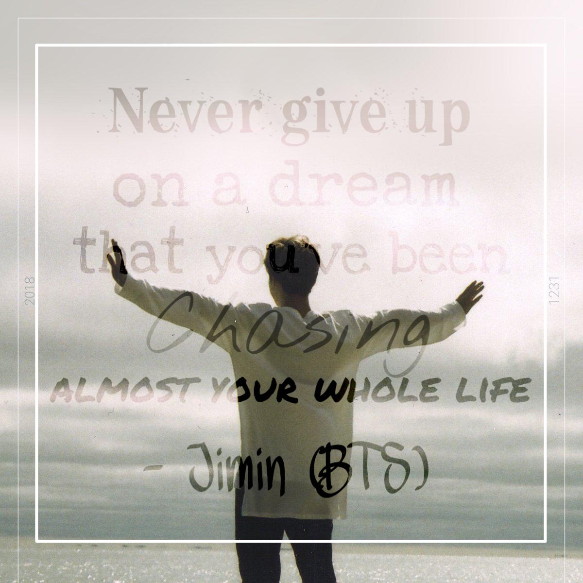 an inspiring quote from bts jimin 💖😍 bts btsjimin bts