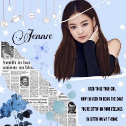 jenscollabchallenge jennie blackpink kpop outline freetoedit