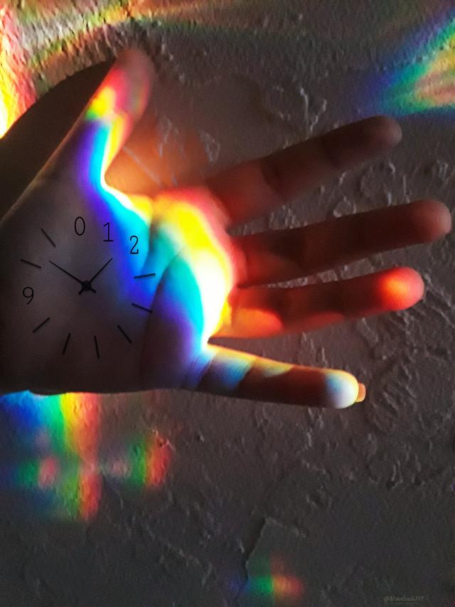 #2019 #newyear #myphoto #rainbow #hand #spectrum