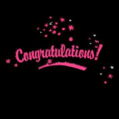 congratulations pink award celebrate freetoedit