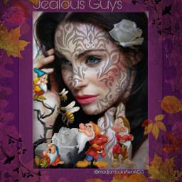 dwarf modelgirl colorfulbackground jealous freetoedit
