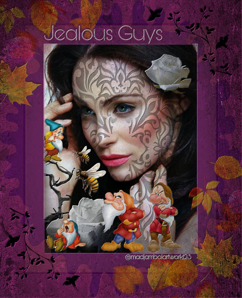 @madjambolartwork123 Mj.arts #dwarf #modelgirl #colorfulbackground #jealous Guys 💕💋💕
