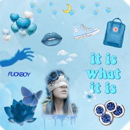 freetoedit blue blueaesthetic allblue tumblr