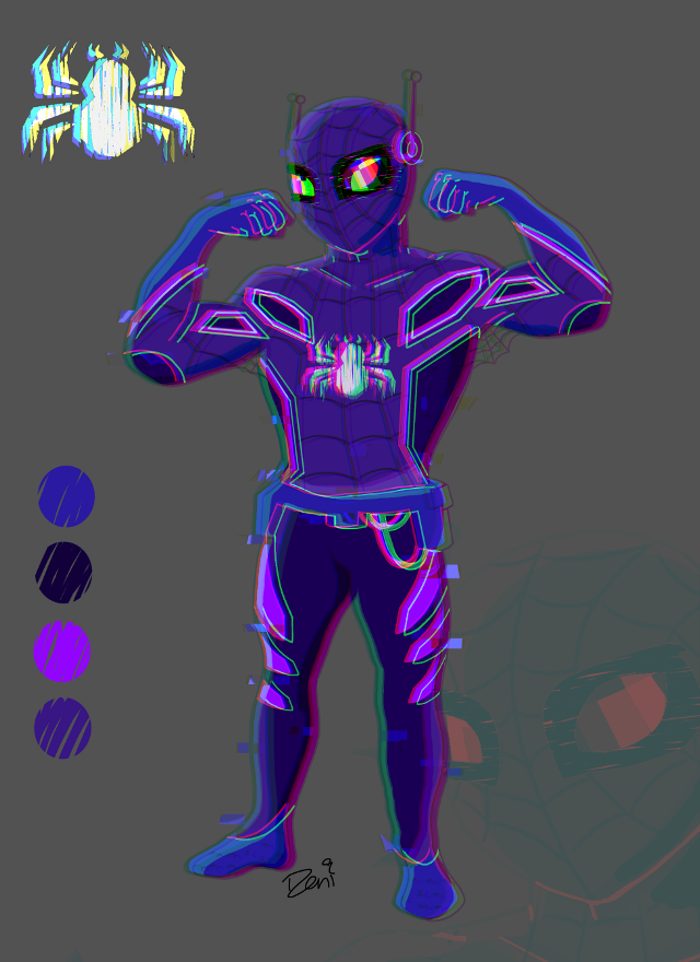 #freetoedit  There's a trend where artists are making their own Spiderman on Twitter called #spidersona  Had so much fun making this bad boii🔥⚘  any name suggestions?  #spiderman #digitalart #digitaldrawing #glitch #fanart #illustration #art #drawing #marvel
