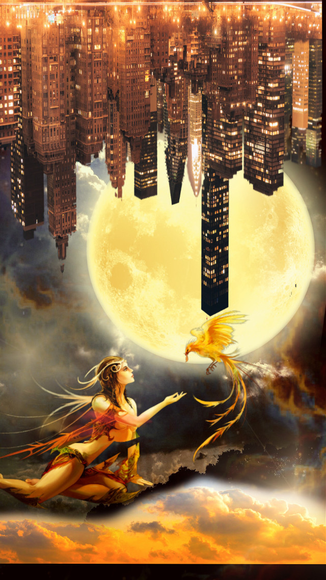 #freetoedit #vipshoutout #fantasyart #fantasybackground #upsidedown #fairy #citylights #surreal #surrealism #doubleexposure #stickerart #picsarteffects #editstepbystep #myedit #madewithpicsart