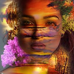freetoedits woman sunsets horizons pathways freetoedit