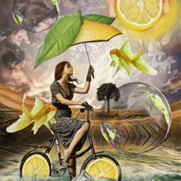 freetoedit lemon girl bike magicfx irclemonart