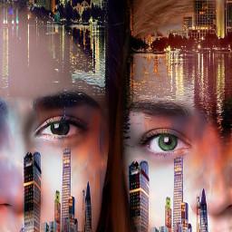 freetoedit girls eyes cityscapes brightlights