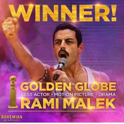 bohemianrhapsody movie ramimalek goldenglobes winner