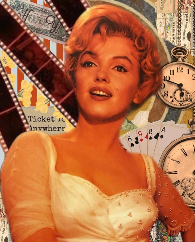 #marilynmonroe #marilyn #monroe  #freetoedit  #beautiful #woman #vintage #retro #collageart #collage