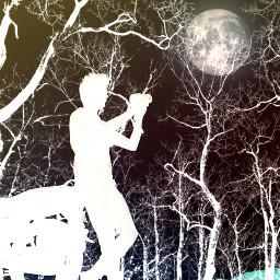 freetoedit vipshoutout negativeeffect trees silhouette fullmoon