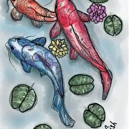 freetoedit fish drawing picsart