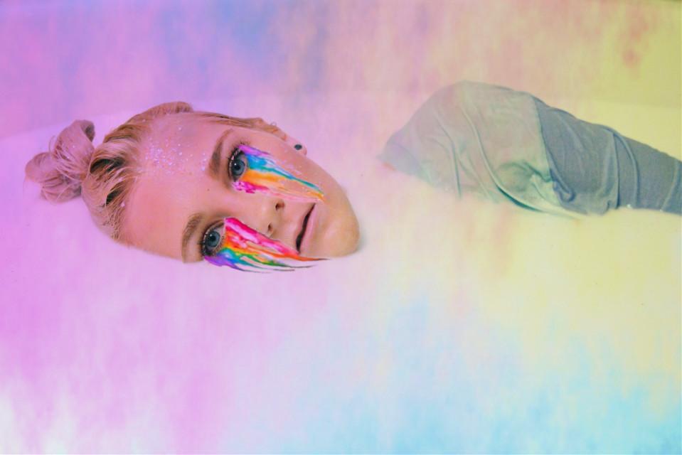 #freetoedit  #milkbath #rainbow #rainbowbath
