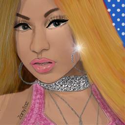 freetoedit nickiminaj barbiegirl drawing drawingbyme