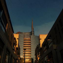 gouacheeffect streetphotography street architecture milanocity