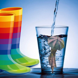 freetoedit rainboots galoshes rainbow water ecunderwater