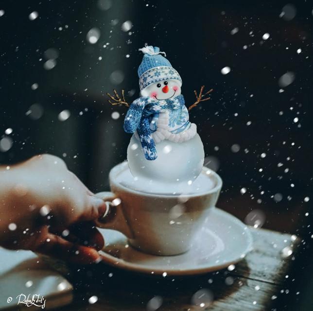 #winter  #snowman  #snowflakes  #snow  #makebelieve  #magiceffect  #makewithpicsart  #rahulmaurya  #rahuledits