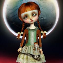 myedit moonlight moon moongirl doubleexposure