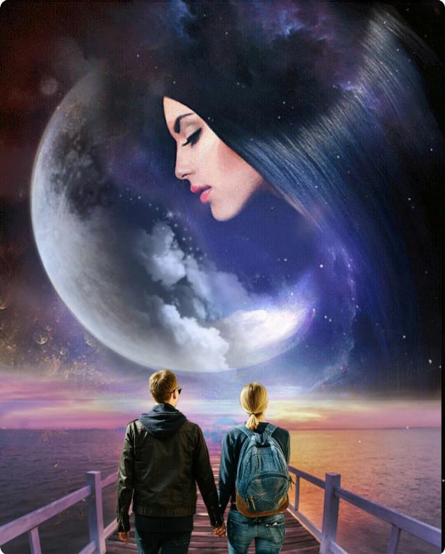 Happy weekend for everyone!.🌹🌹🌹 #freetoedit #doubleexposure #editedbyme #galaxy #remixit #remix #stickers #couple #woman #myedit #araceliss