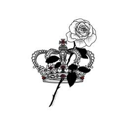 freetoedit rosa sangre corona arte