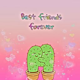 freetoedit besties cactus love cute