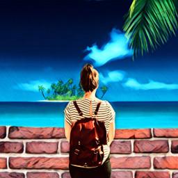 freetoedit palmtree palm beach woman