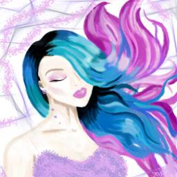 dccolorfulhair colorfulhair freetoedit art girlart