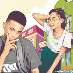 daily_pic pcbeautifulbirthmarks vector_art illustration blending freetoedit dcfamilyportraits