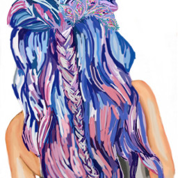 freetoedit colorfulhair mydrawing woman longhair dccolorfulhair
