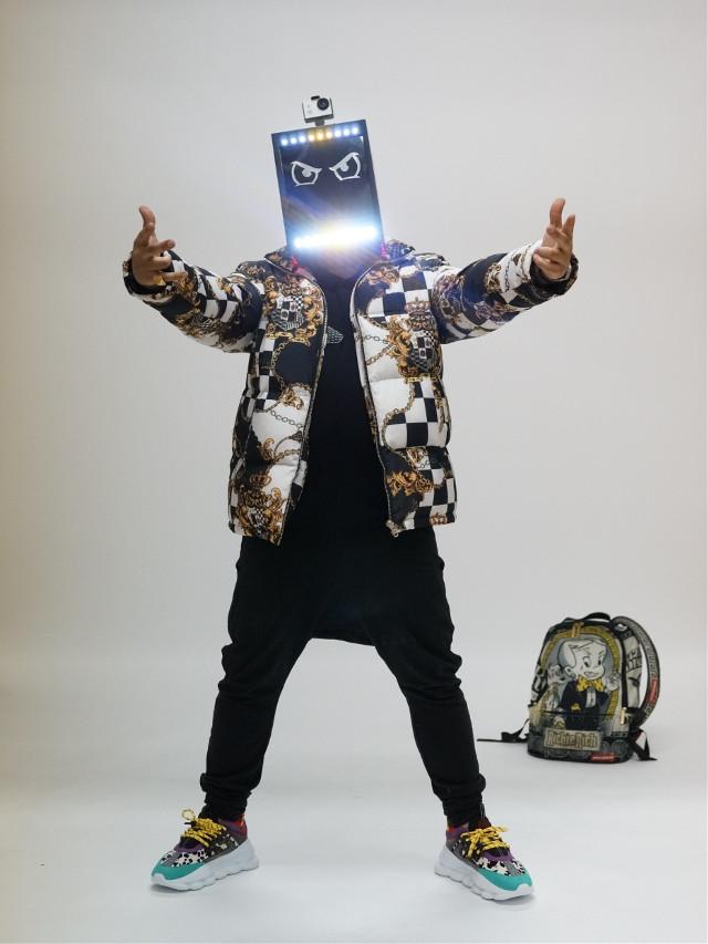 @djmoodythemoovie ready to take over! shot by @ne.snaps on instagram . #rockmadethat #djmoody #dj #futuristic #model #freetoedit #remixit #remixme #alien