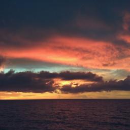 sunset beautiful beach panorama love