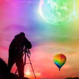 freetoedit dailyremixmechallenge hotairballoon photographer silhouette ircflyinhigh