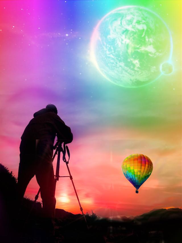 #freetoedit #dailyremixmechallenge #hotairballoon #photographer #silhouette  #skyporn #naturelove #sunset  #colorfulsunsets #colorful  #rainbowcolors #squarefit #doubleexposure #layersonlayers #editstepbystep #myedit #madewithpicsart