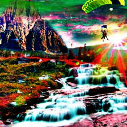 freetoedit natureart digitalart fantasy sunshine