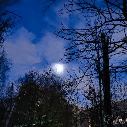 freetoedit evening moon bluesky remixit