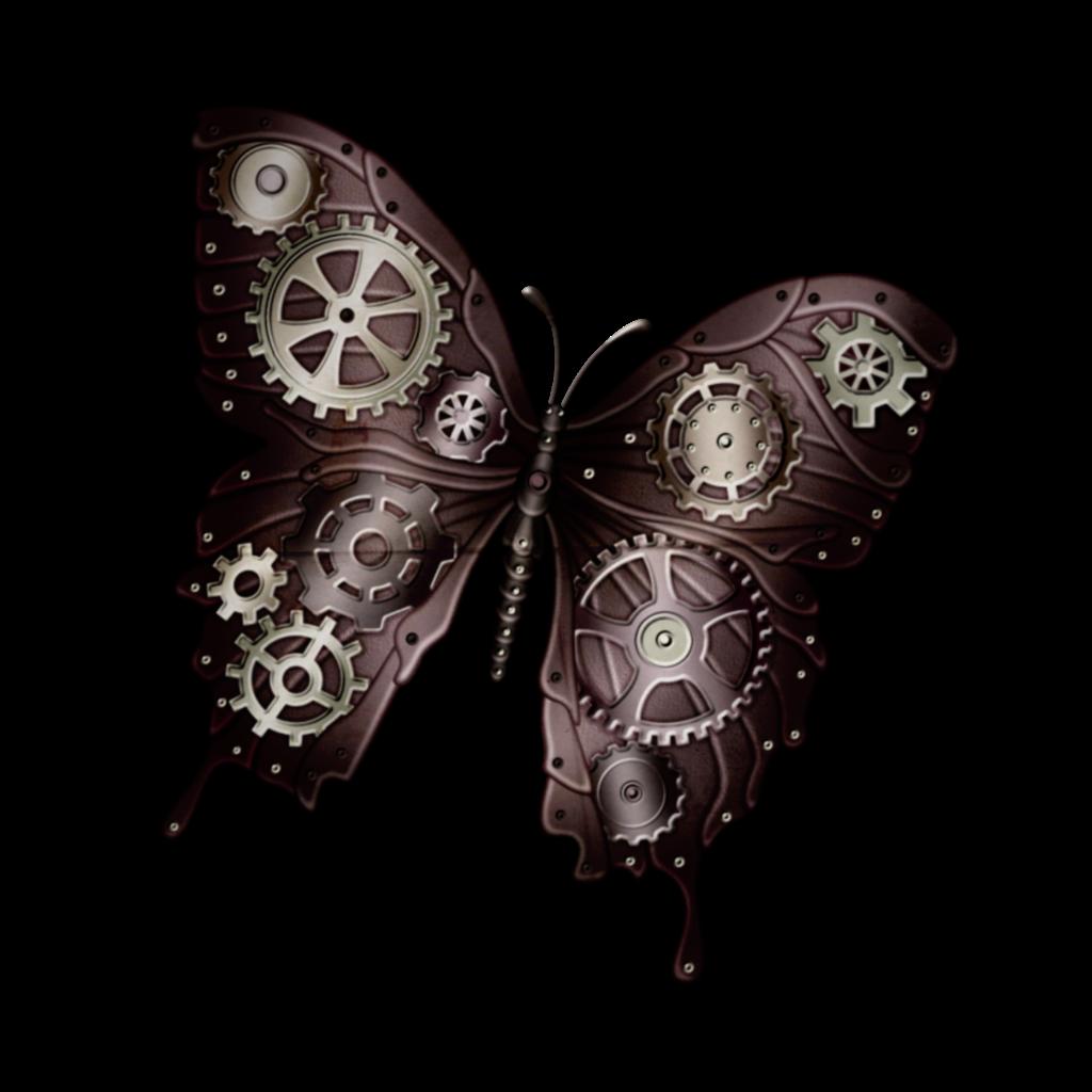 #farfalla #ciberpunk #ingranaggi