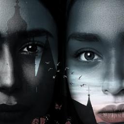 freetoedit myedit girls faces doubleexposure