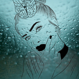 freetoedit brain thoughtbubble raindrops thoughtful ircoutlineart