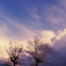 freetoedit clouds myview purple beautifulsky