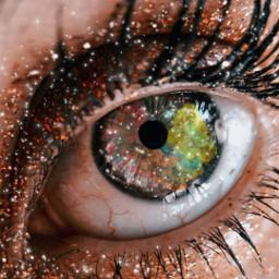 picsartphoto eye sprinkle freetoedit