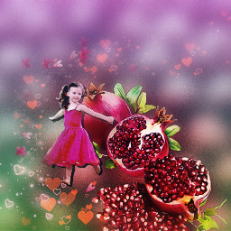freetoedit pomegranate collage carefree healthy