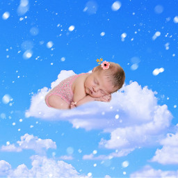 freetoedit cotton cloud sleep baby