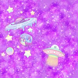 freetoedit pastel space ufo believeinaliens